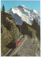 TRAIN Suisse - EISENBAHN Schweiz - BERG JUNGFRAU - Bergbahn Schynige Platte - Autorail, Tramway - Trains