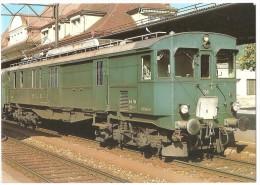 TRAIN Suisse - EISENBAHN Schweiz - LEISSIGEN (gare) - Lötschberg Simplon - Automotrice, Autorail, Tramway (Bern, Berne) - Gares - Avec Trains