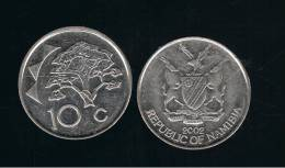 NAMIBIA -  10 Cents 2002   KM2  - Tree - Arbol - Namibia