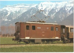 TRAIN Suisse - EISENBAHN Schweiz - BERN - BERNE - Chemins De Fer De L´Oberland Bernois - Locomotive HGe 3/3 22 - Trains
