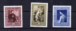 Tableaux De La Galerie De La Principauté, 268 /  270**, Cote 130 €, - Liechtenstein