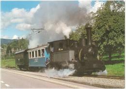 TRAIN Suisse - EISENBAHN Schweiz - BLONAY - Le B.C. Historique ! La Locomotive G 3/3 N° 6 (Blonay-Chamby) - Trains