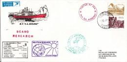 RSA - 1987 - POLAIRE - ENVELOPPE De L´EXPEDITION AFRIQUE Du SUD - CACHETS De PAQUEBOTS - Timbres