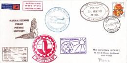 RSA - 1981 - POLAIRE - ENVELOPPE De L´EXPEDITION AFRIQUE Du SUD - VOL PAR HELICOPTERE - CACHETS De PAQUEBOTS - Timbres