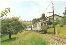 TRAIN Suisse - EISENBAHN Schweiz - BLONAY - Automotrice (autorail) BCFe H 4/4 - 10 Et Sa Rame Loeche-les-bains, Tramway - Trains