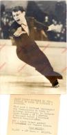 Photo Presse Sports - Patinage Artistique - Championnat Du Monde Dortmund 1964, Alain Calmat, Manfred Schnelldorfer - Sports