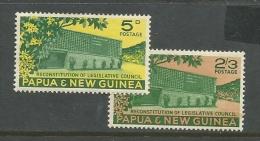Papua  New Guinea  1961  Sc#148-9   Council Set MH*  2016 Scott Value $8.80 - Papua New Guinea