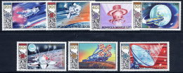 MONGOLIA 1985 Soviet Space Programme Set Of 7 +  Block MNH / **.  SG 1701-08 - Mongolia