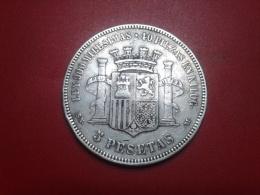 SPAIN  5 PESETAS 1870 S.N.M. - [ 1] …-1931 : Reino