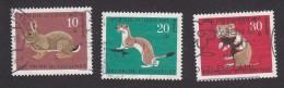 Germany, Scott #B422-B424, Used, Animals, Issued 1967 - Gebraucht