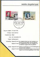Nederland - Postzegel Carnet Eerste Dagstempel - 10 Maart 1987 - Nederlandse Literatuur - NVPH 1370 - 1371 - Marcophilie