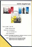 Nederland - Postzegel Carnet Eerste Dagstempel - 7 April 1987 - Zomerzegels, Industrieel Erfgoed - NVPH 1372 - 1374 - Marcophilie