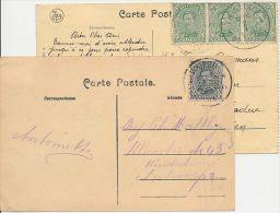 Vilvoorde - 2 Kaarten 1922 - Stadhuis En IJs Karretje - - Vilvoorde