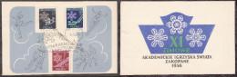 Poland 1956 Sport Olympic Games Zakopane FD - FDC