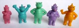 5 FIGURINES ZABAR - En PVC DELACOSTE - 80's - Figurines