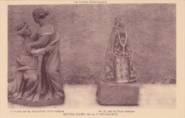 CPA 15 @ CHEYLADE @ La Font Sainte - Notre Dame Et Groupe De La Visitation 16° Siècle - Statues @ Le Cantal Pittoresque - France