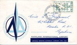 NOUVELLE-ZELANDE. Enveloppe Commémorative De 1966. Aéroport Auckland. - Avions
