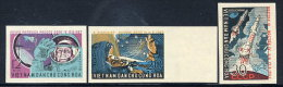 NORTH VIETNAM 1962  1st Manned Space Flight Imperforate Set Of 3  MNH / (*).  Sc. 235-37 - Vietnam