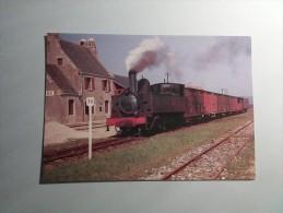 PLOMODIERN - 29 - CARTE INTROUVABLE De L´arrivée D´un Train à Vapeur. - 230114 - - Plomodiern