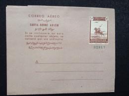 1949 Spanish Morocco Air Letter Sheet Unused KE0320 - Maroc Espagnol