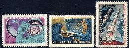 NORTH VIETNAM 1962  1st Manned Space Flight Set Of 3  MNH / (*).  Sc. 235-37 - Vietnam