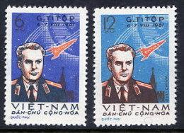 NORTH VIETNAM 1961 Space Flight Of Astronaut Titov Set Of 2  MNH / (*).  Sc. 174-75 - Vietnam