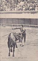 Bull Fight Passe de muleta aidee 1905