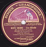 "78 Tours  DISQUE ""GRAMOPHONE"" K-8831 - état B - YVETTE GIRAUD - RESTE ENCORE - LA CHAMBRE - 78 Rpm - Schellackplatten"