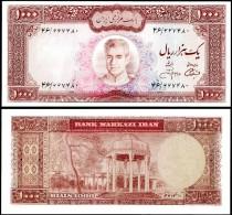 IRAN 1000 RIALS Sign 13 ND 1971-73 P 94c AUNC - Iran