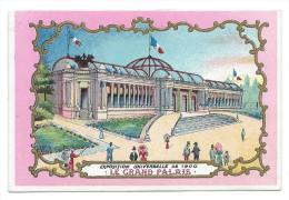 """Chromo Publicitaire Pour Le """"GRAND CAFE-RESTAURANT DU SENTIER"""" - Exposition Universelle 1900 """"Le Grand Palais"""" - Chromos"""