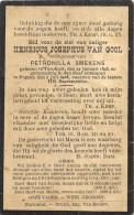 Henricus Josephus Van Gool - Turnhout 1848 - Poppel 1908 - E. De Petronilla Smekens - Décès