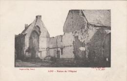 Cpa/pk 1918 Loo Lo-Reninge La Guerre 1914-18 Fotokaart Ruines De L´Hôpital - Lo-Reninge