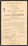 Lucien Collignon - Bras-Bas - Libramont 1902, à L'âge De 28 Ans - Décès