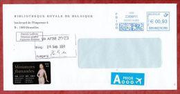 Brief, Bibliotheque Royale De Belgique, Bruxelles, Freistempel, 93 C, 2011 (46533) - Bélgica