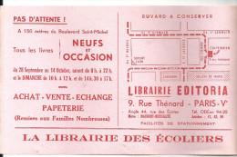 Buvard, Librairie Editoria 9, Rue Thénard Paris V ème La Librairie Des Ecoliers - Stationeries (flat Articles)