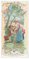 Chromo Chocolat Révillon - Les Vieilles Chansons De France - L'Amant Discret  - Illustration Maurice Leloir - Revillon