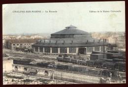 Cpa Du 51 Chalons Sur Marne La Rotonde  A14   Gare  Train - Châlons-sur-Marne
