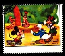 Sharjah: 'Walt Disney - Mickey Mouse - Donald Duck, 1972', [verzähnt / Shifted Perforation] Oo - Comics