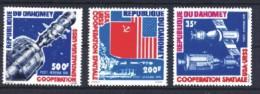 Dahomey / Benin: 'Sojus Apollo In Space, 1975', Mi. 617-619; Yv. PA 231-233; Sc. C227-229 **