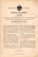 Original Patentschrift -J. Kluge In Lößnitztal / Oederan B. Leubsdorf , 1894 , Fein - Spinnmaschine , Spinnerei !!! - Maschinen