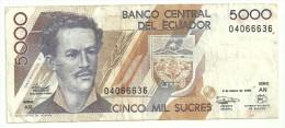 Ecuador 5000 Sucres 1999 - Repubblica Ceca