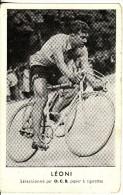 Carte Postale SPORT-CYCLISME-VELO-BICYCLETTE-CYCLISTE Adolfo LEONI-Italie- Sélection O.C.B  Papier  Cigarettes TABAC - Cyclisme