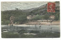 Environs De Saint Etienne, Le Pertuizet, Le Rocher Maudit  Hôtel Des Bains, Cpa Couleur, Voyagée 1907 - Saint Etienne