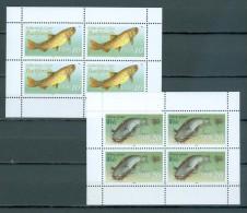 DDR - Kleinbogensatz Mit Mi-Nr. 3096 - 3097 Süßwasserfische Postfrisch - DDR