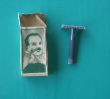 VINTAGE SAFETY RAZOR With BOX ( 1950's ) NOT USED  * Ancien Rasoir Rasoio Di Sicurezza Nassrasierer Rasor Shaving Rasage - Razor Blades
