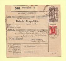 Bulletin D´expedition - Expo Internationale Et Saint Trophime - 1936 - Dannemarie - Marcophilie (Lettres)