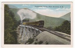 Railroad Train Frankenstein Trestle New Hampshire 1920s Postcard