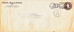 U.S.  POSTAL  HISTORY  COVER  1 1/2  Cent Rate   To Germany - United States