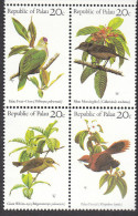 PALAU, 1983 BIRDS BLOCK 4 MNH - Palau