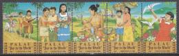 PALAU, 1986 XMAS STRIP 5 MNH - Palau